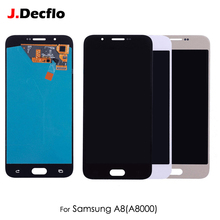 OEM AMOLED OLED For Samsung Galaxy A8 A8000 LCD Display Touch Screen Digitizer Glass Assembly Replacement White Black black white for lenovo tab 2 a8 50f tab2 a8 50lc a8 50 touch screen digitizer sensor glass replacement accessories