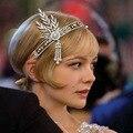 Novo casamento nupcial grande Gatsby Charleston 1920 s do Vintage pérolas Headpiece Headband pérola da coroa da cabeça vestir de cabelo banda