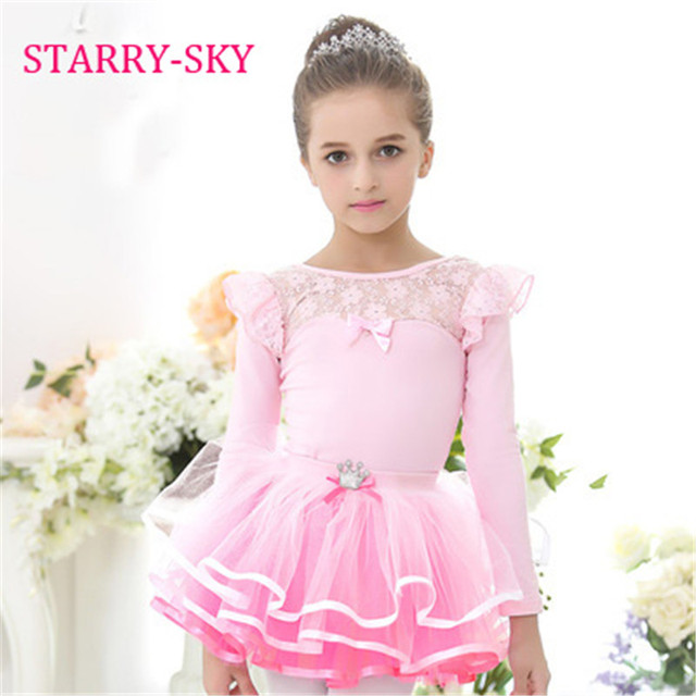 269b6b5f8 New Ballet Tutu Dancewear Long Sleeve Elegant Lace Girls Ballet ...