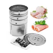 1PC Stainless Steel Round Shape Ham Press Maker Machine Seafood Meat Poultry Tools for Family Ham PressTools Kitchen Accessories