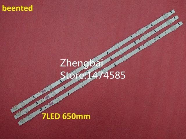 Новый оригинальный комплект одежды из 3 предметов 7 светодиодный 650 мм светодиодный подсветка полосы для samsung UE32H4000 D4GE-320DC0-R3 2014SVS32HD 3228 BN96-35208A ...