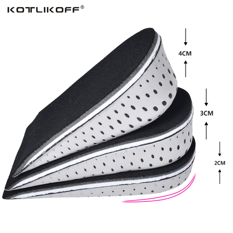 1 Pair High Quality Men Women Orthopedic Height Increase Insoles Massaging Invisible Half Silicone Foot Pad Shoe Lift Feet Care half code silicone pad forefoot anti pain female shoe foot pad insoles massaging feet care insert thickened shoe accessories
