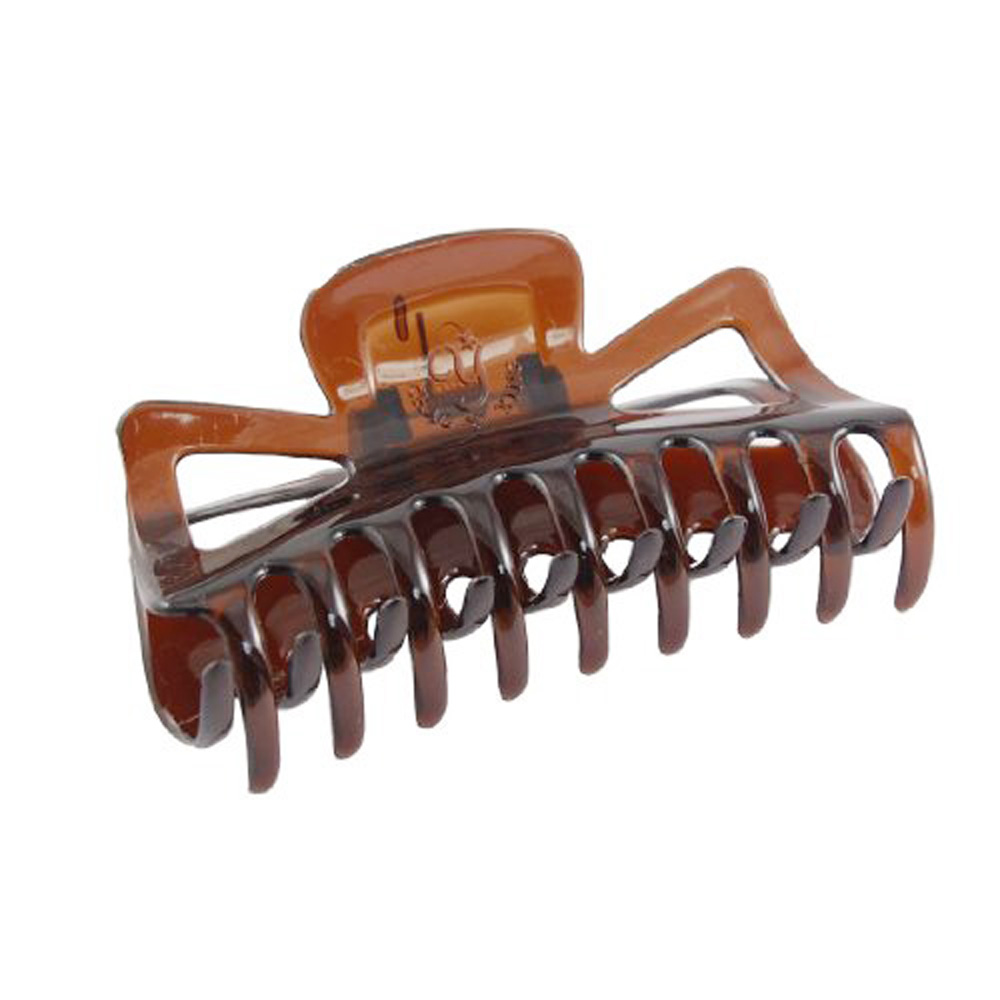 Fashion New Practical Durable Woman Brown Plastic Bath Hairclip Hair Clamp Claw Barrette