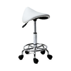 Американский белый вращающийся барный стул с подвижными ножками дропшиппинг