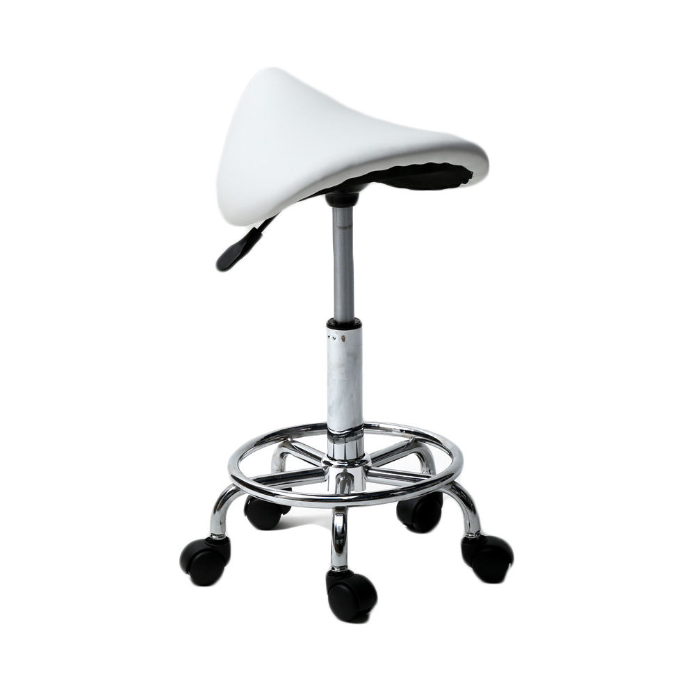 US White Swivel Bar Chair with Rolling Feet Dropshipping