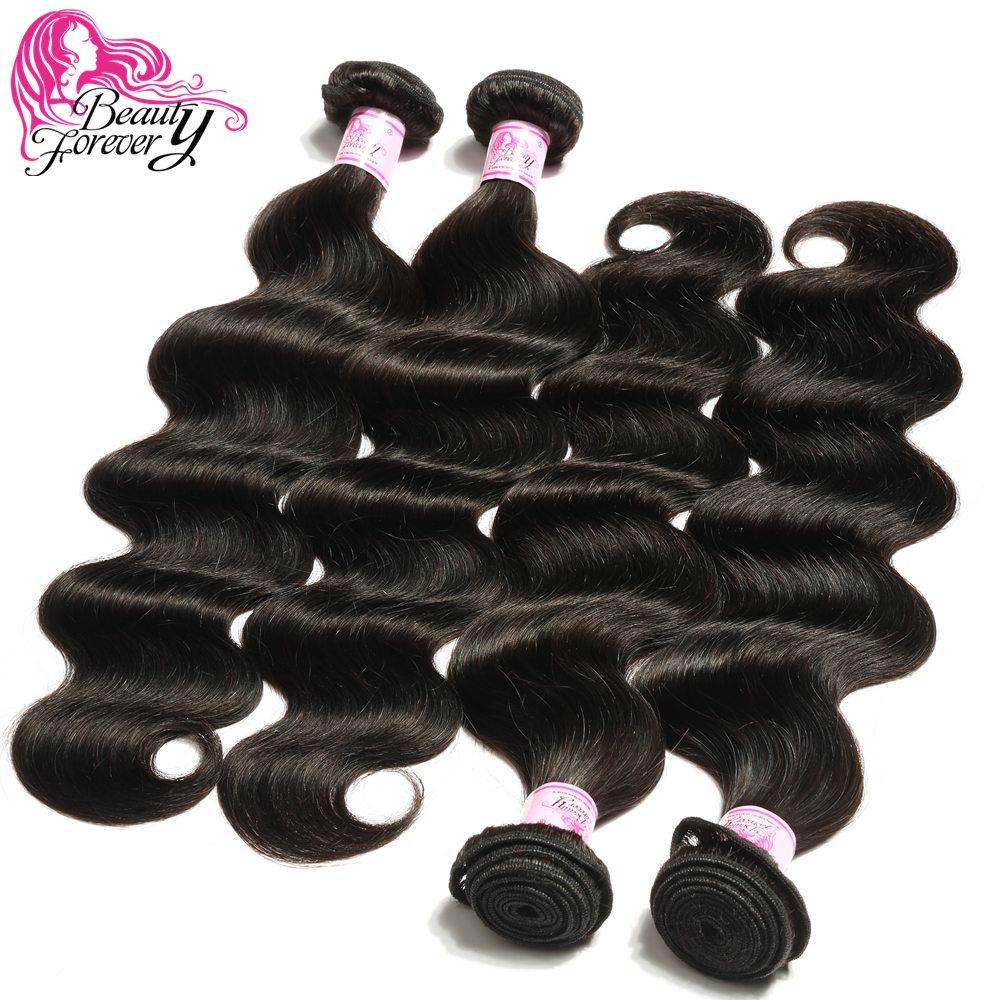 BEAUTY FOREVER 4 Bundles Body Wave Peruvian Hair Weft 100 Remy Human Hair Weaves 8 30inch