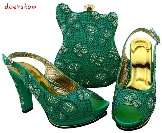 b7bd5b2148b433 Doershow belle recherche femmes africaines correspondant à la chaussure  italienne et sac ensemble chaussure italienne avec