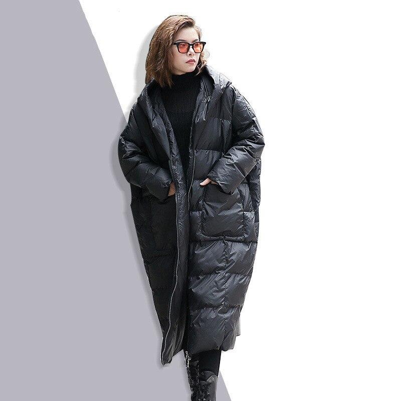 À rembourré Capuche Green 2018 Veste Longues Coton Noir Parkas Taille Pull Grande Chaud Hiver Manches Solide gris Femmes Lâche army qfxCIwFC