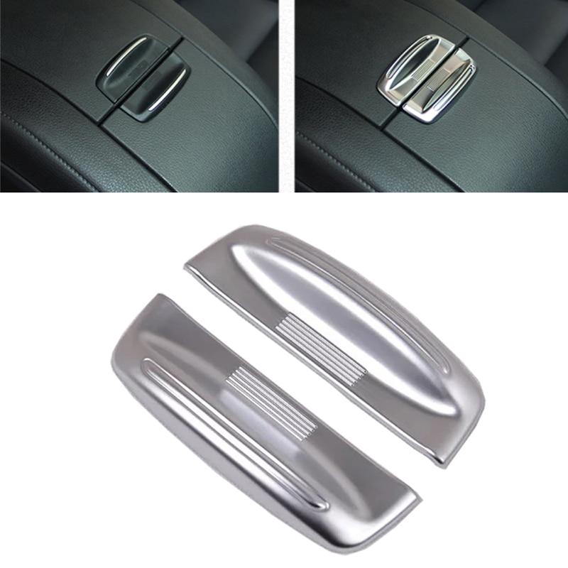 JEAZEA 2 Pcs Car Styling ABS Chrome Armrest Storage Box Cover Trim Fit for Toyota Highlander Kluger 2015 2016 2017