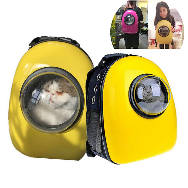 US $73 89 |Transparent Space Capsule Design Pet Cat Carrier Backpacks Cool  Puppy Unique Shoulders Travel Bags Dog Outdoor Portable Package-in Dog