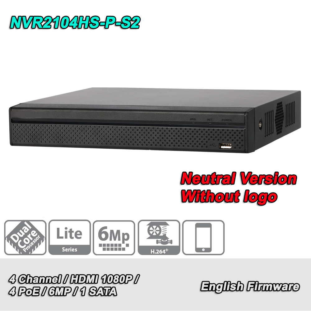 DH NVR2104HS P S2 NVR 4 Channel 1 SATA Compact 1U 4PoE Lite Network Video Recorder