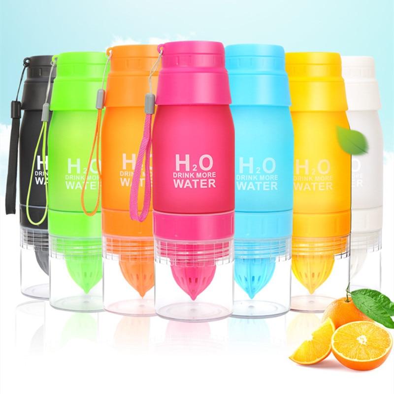 650ml Water Bottle plastic Fruit infusion bottle Infuser Drink Outdoor Sports Juice lemon Portable Kettle Xmas Gift dropshipping