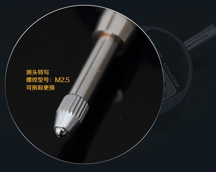12,7 mm elektroninis skambučio indikatorius 0,01 mm skaitmeninis - Matavimo prietaisai - Nuotrauka 3