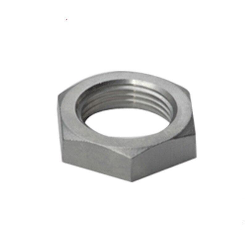 Black -4 AN Aluminum Bulkhead Jam Nut