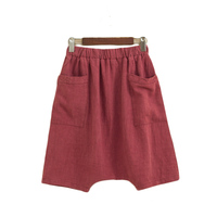 Summer Wind Female Loose Style High Waist Linen Shorts 2018 European And American Bf Women Elastic