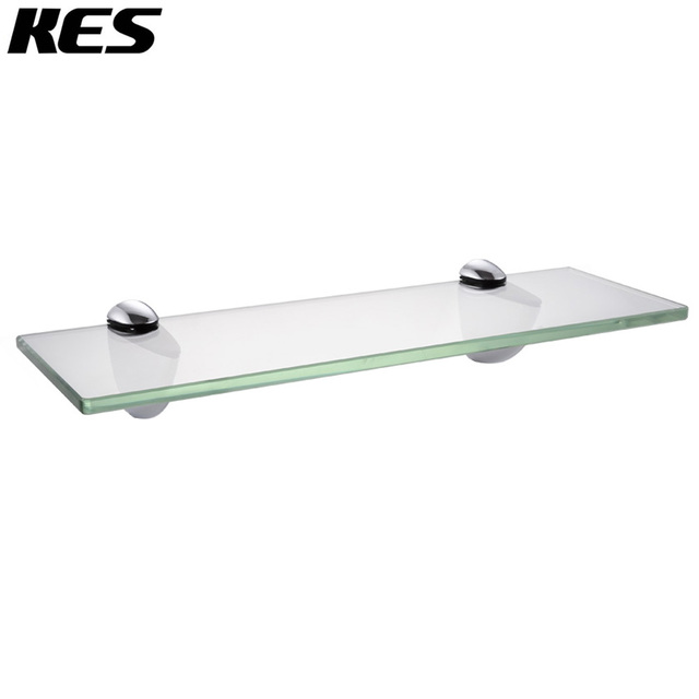 Magnificent Us 30 7 Kes 14 Inch Bathroom Tempered Glass Shelf 8Mm Thick Wall Mount Rectangular Polished Chrome Brushed Nickel Bracket Bgs3200S35 In Bathroom Download Free Architecture Designs Scobabritishbridgeorg