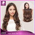 Macio Cabelo ondulado Um pedaço 5 clipes em extensões do cabelo 100% virgem grampo de cabelo em trama do cabelo humano para o preto mulher