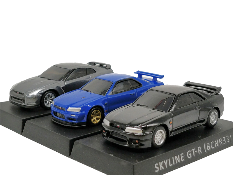1:72 Nissan Skyline R33 R34 R35 Diecast Model Car