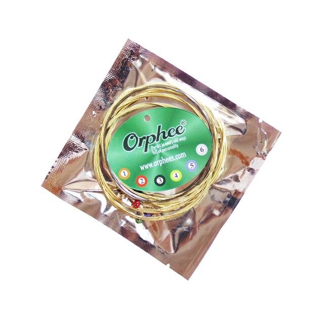 Orphee 1 SET ACOUSTIC Guitar String Hexagonal core+8% nickel FULL,Bronze Bright tone& Extra light Extra Light Medium 2
