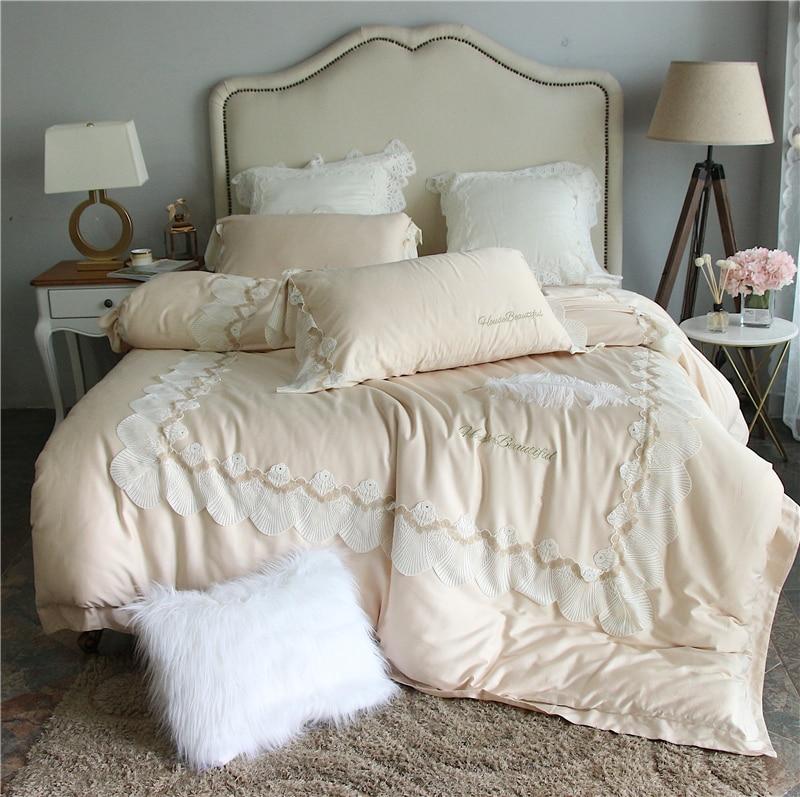 4pcs Luxury Egypt Cotton Satin Beauty Of Youth Bedding Set