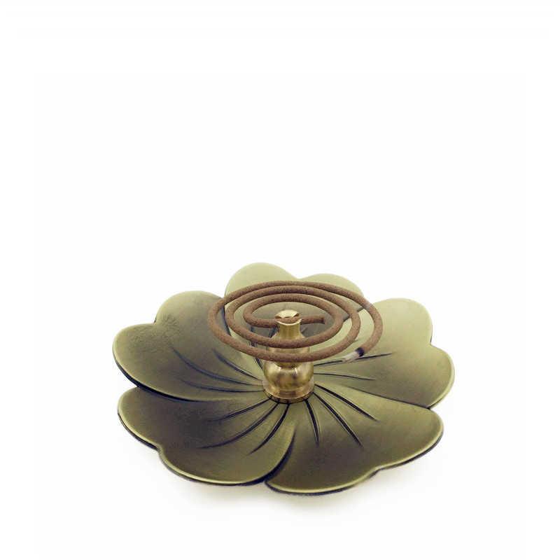 Новая горелка для благовоний Сакура медный сплав вишня в форме тыквы для благовоний печь Чайный домик орнамент товары по тематике Будда катушки держатели для палочек