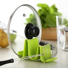 Пластиковая кухонная волнистая Крышка Для Сковороды подставка держатель стойки стойка для хранения ложки инструменты для приготовления пищи TN88