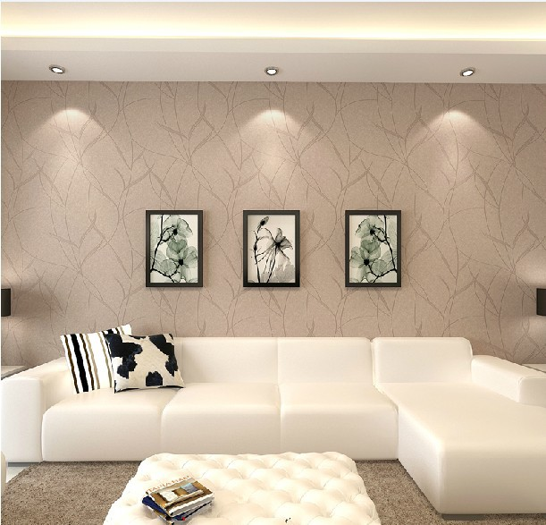 Buy italy beige woven wallpaper the living room background wallpaper tapete - Tapete schlafzimmer beige ...