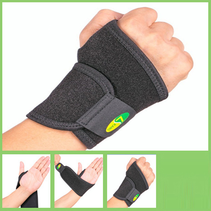 3-tier Structure Sports Wrist Brace Support Hand Wrap Strap Wrist Protect Wrist Support Wrap for Badminton Tennis Weightlifting
