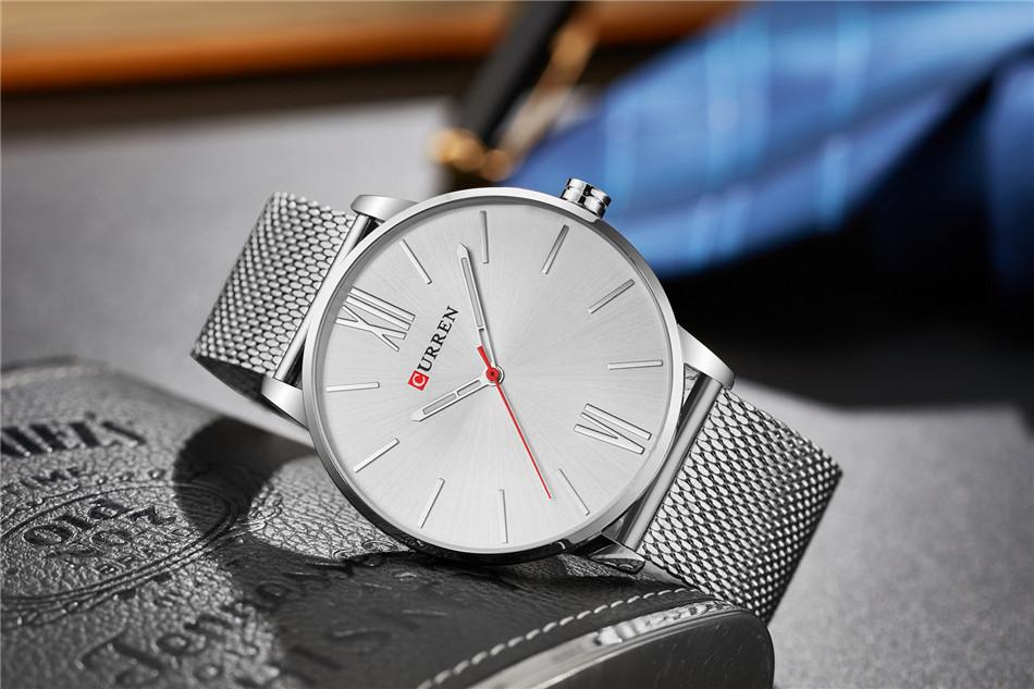 HTB1d2NdRpXXXXXzXpXXq6xXFXXXj - CURREN Luxury Stainless Steel Business Watch for Men