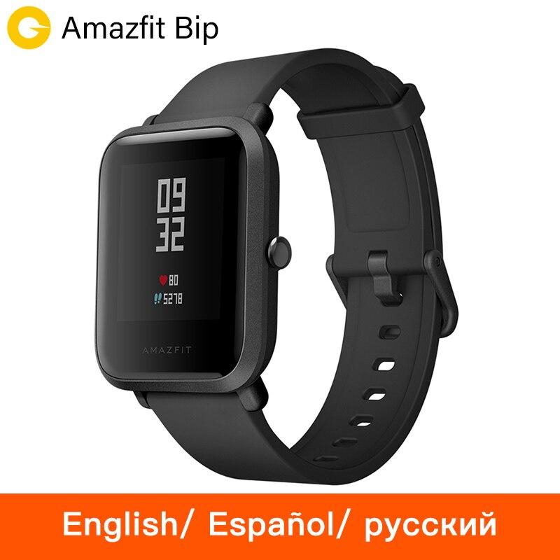 [русский] Huami Amazfit Bip Смарт часы Спортивные часы темп Bluetooth 4.0 GPS смарт часы сердечного ритма 45 дней Батарея IP68