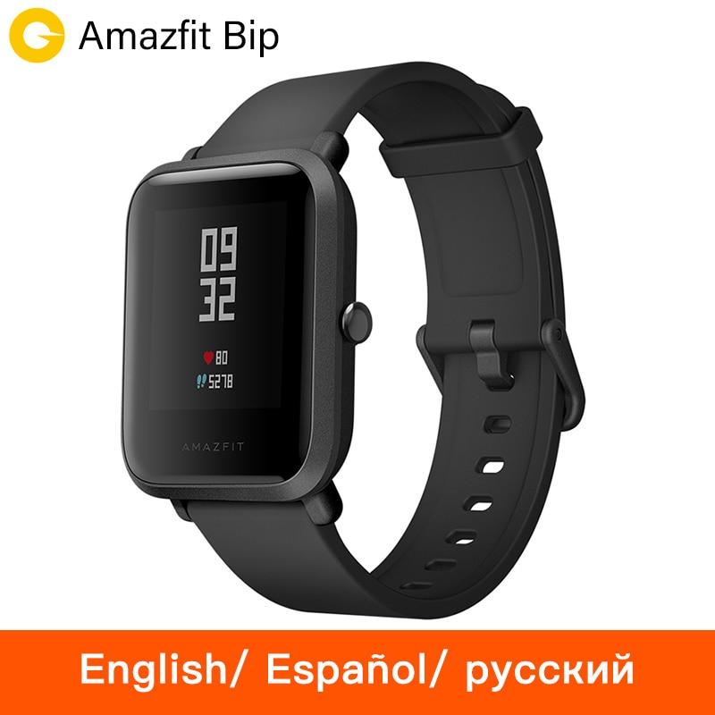[Spanish] Xiaomi Huami Amazfit Bip Smart Watch Men Women Smartwatch Bluetooth GPS Heart Rate Monitory 45 Days Standby IP68