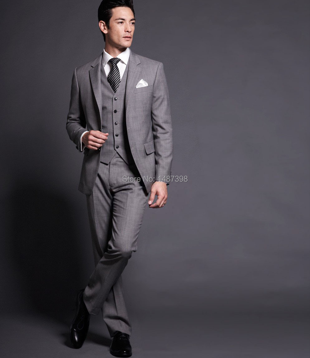 Compare Prices on Light Grey Slim Fit Suit- Online Shopping/Buy ...