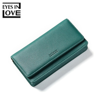 Eyes In Love Hot Sale Women's Wallet Clutch Multifunction Crossbody Bag Purse Long Leather Card Wallet Purse For Women Portfel
