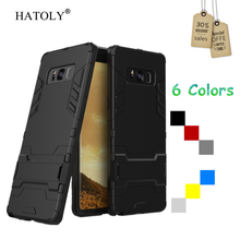 HATOLY For Case Samsung Galaxy Note 8 Cover Soft Shockproof Robot Armor Rubber Case For Samsung Note 8 Cover For Galaxy Note 8