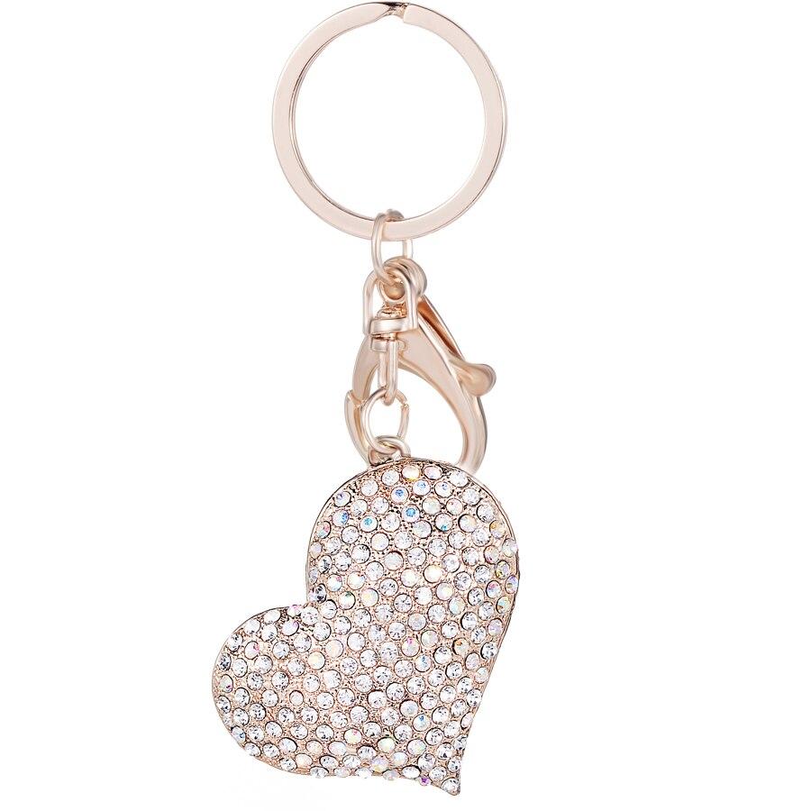 Criativos Da Novidade Strass Coração Charme Da Moda Mulheres Bolsa de  Cristal Keychain Saco Chaveiro Keyfobs Chave Presente Cadeia de Jóias R034 7ae481f876
