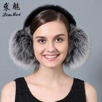 Real Fox Fur Ear Muffs Winter Earmuffs Warmer For Girls Genuine Fur Earmuffs Natural Fox Fur