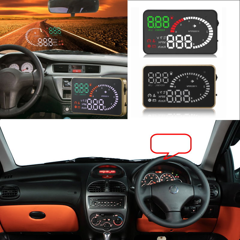 Car HUD Head Up Display For Peugeot 206/207/301/307/308/407/508/2008/3008 Car Head-up Display Digital Virsual Screen Projector