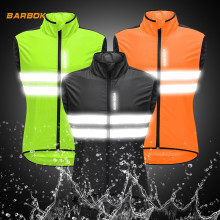 WOSAWE High Visibility Sleeveless Motorcycle Jackets Reflective Sports Waterproof Wind Waistcoat Summer Motocross Clothes