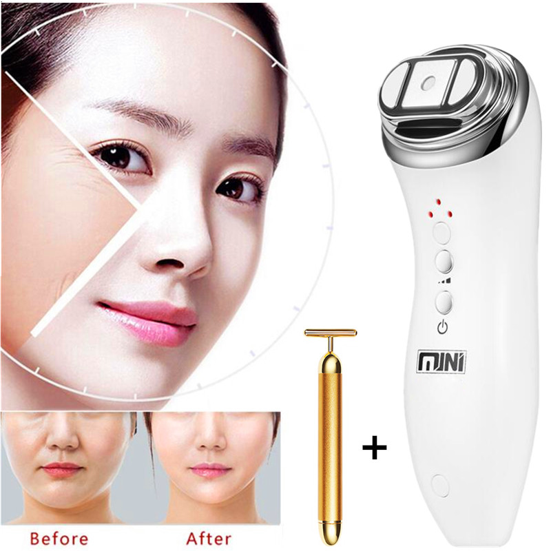 Mini Hifu Removal Focused Ultrasound LED Radio Frequency Anti-aging Bipolar RF Face Lifting Neck Wrinkle Facia Beauty Massager intelligent 1 lcd electronic 7 grid pill capsule medicine organizer case blue white 2 x aaa