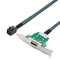 Cabledeconn Server Transmission Cable SFF 8088 Female to SFF 8643 Computer Hard Disk Data Cable 0.8m
