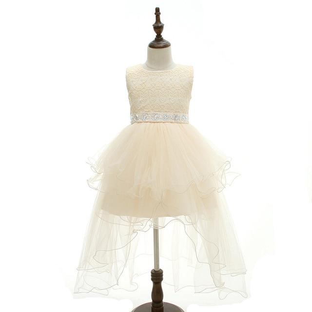 45b4d6d2caa ABWE Best Sale Floral Girls Flower Dresses Champagne Gold Beaded Tutu Dress  Princess Baby Girls Designer