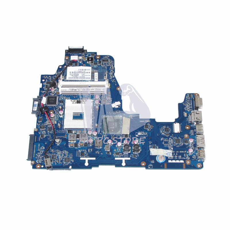 NOKOTION NWQAA LA-6061P K000104250 MAIN BOARD For Toshiba Satellite A660 A665 Laptop Motherboard HM55 UMA DDR3 sheli v000275560 laptop motherboard for toshiba satellite c850 c855 l850 l855 6050a2541801 uma hd 4000 hm76 main board works