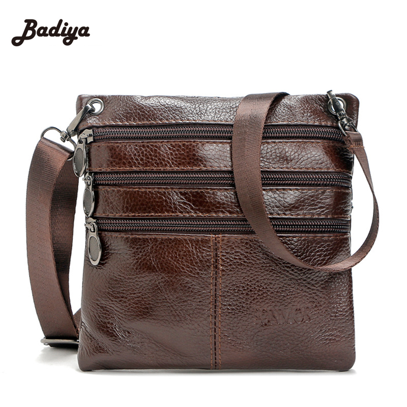 Vintage Men Small Genuine Leather Cross Body Bags Simple Solid Shoulder Bag For Man Real Leather Male Messenger Bag dispalang mini small messenger bag 3d bat skull print cross body bags for boys borsa casual small men s travel shoulder bags