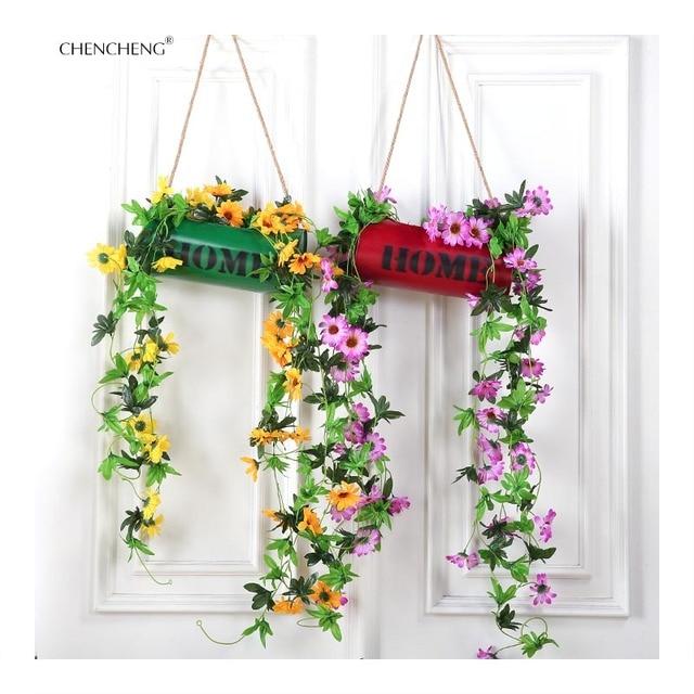 CHENCHENG Garden Artificial Vines Iron Wall Cylinder Flower Bonsai ...