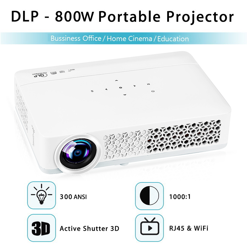 DLP W Mini x Pixels ANSI DLP Projector Full HD p D