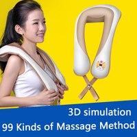 U Shape Electrical Shiatsu Kneading Body Back Neck Shoulder Massager Cervical Vertebra Therapy Relief Fatigue Health