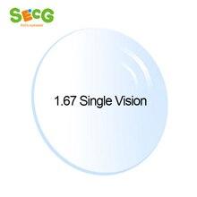 1.67 High-Index Clear Ultra-Thin Aspheric Radiation Protection Anti-UV Myopia Hyperopia Astigmatism Prescription Lenses 2Pcs