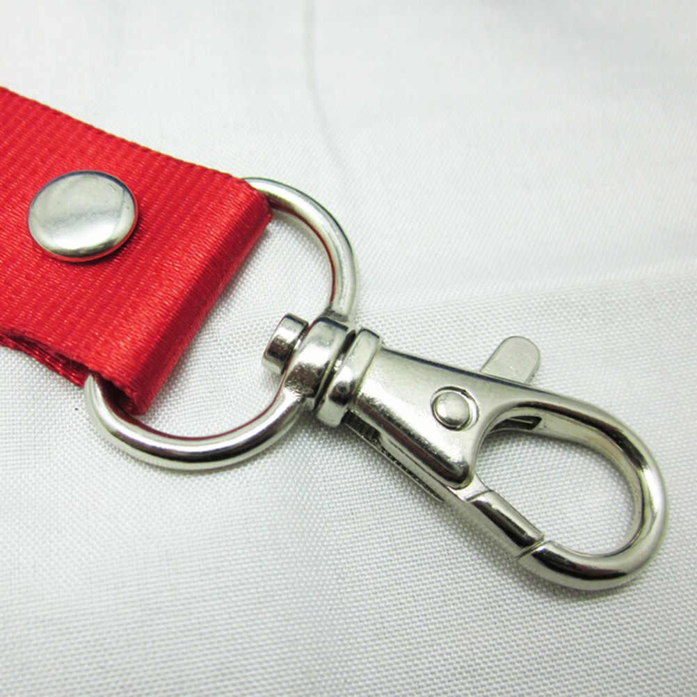 1PC smycz na szyje smycz oderwanie bezpieczeństwa dla usb do telefonu komórkowego uchwyt na uchwyt na identyfikator klucze metalowy klips