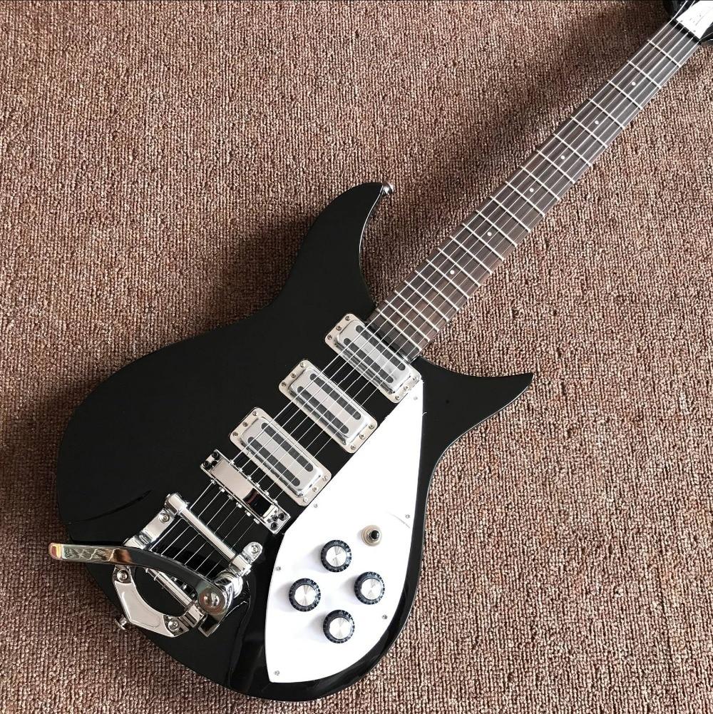 Nuovo Arrivo rickenback 360 chitarra elettrica Ricken 325 3 pickup chitarra elettrica Rick chitarra personalizzato in colore nero