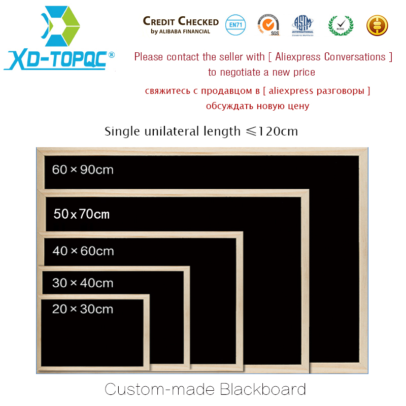XINDI Individualized Custom-made Writing Board Various Different Sizes Customized White / Black / Cork / Combination Board DZ01